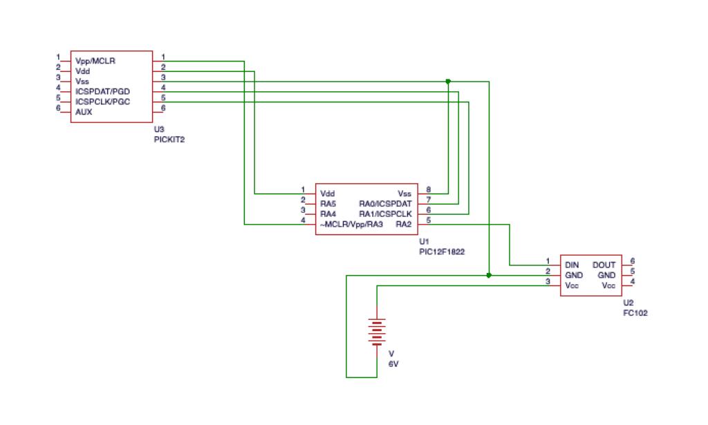 ICSP回路付きの回路図です。