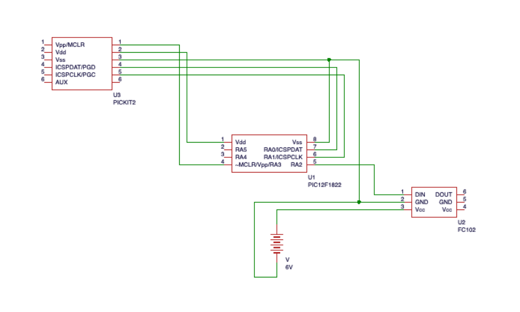 ICSP回路付き。